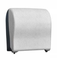 фото: Диспенсер для полотенец в рулонах Merida Unique Solid Cut Glamour White Line Matt Maxi CUH318, матов