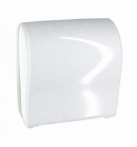 фото: Диспенсер для полотенец в рулонах Merida Unique Solid Cut Glamour White Line Spark Maxi CUH368, глян
