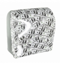 Диспенсер для полотенец в рулонах Merida Unique Solid Cut Las Vegas Line Spark Maxi CUH364, глянцевы