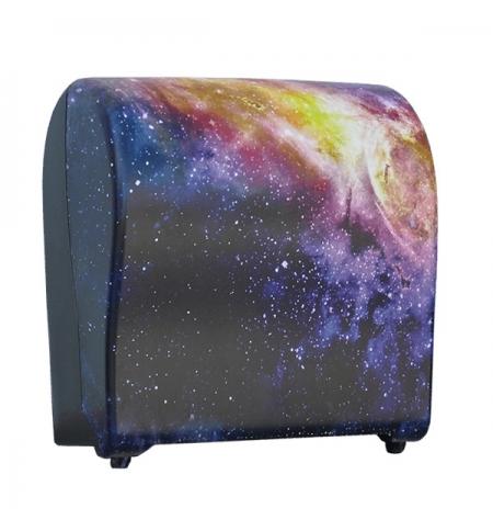 фото: Диспенсер для полотенец в рулонах Merida Unique Solid Cut Magic Line Matt Maxi CUH324, матовый с рис