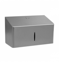 фото: Диспенсер для полотенец листовых Merida Stella R10 Advanced Mini ASM203, матовый металлик, V-укладка