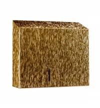 Диспенсер для туалетной бумаги в рулонах Merida Inox design gold line duo BDI203, золотистый