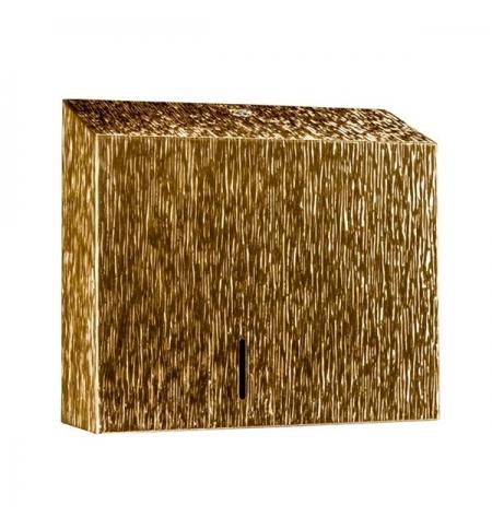 фото: Диспенсер для туалетной бумаги в рулонах Merida Inox design gold line duo BDI203, золотистый