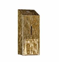 фото: Диспенсер для мыла в картриджах Merida Inox design icicle line maxi gold DDI202, золотистый, 700мл