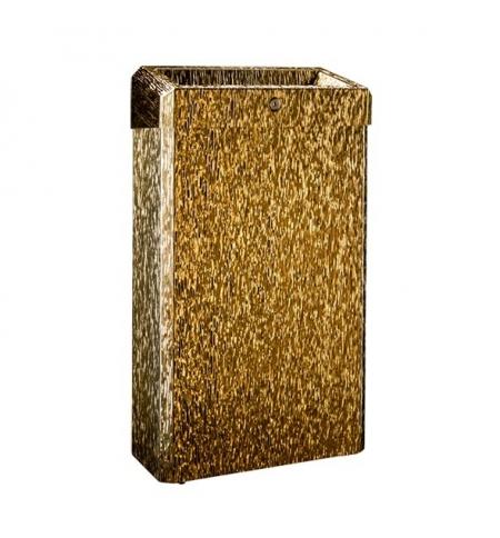 фото: Мусороное ведро Merida Inox design gold line KDI102, открытая крышка, 27л, золотистый