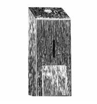 Диспенсер для мыла в картриджах Merida Inox Desigh Icicle Line Maxi DDI201, металлик с рисунком, 700