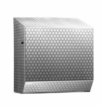 Диспенсер для полотенец в рулонах Merida Inox Desigh Honeyсomb Line Maxi CDH301, металлик с рисунком