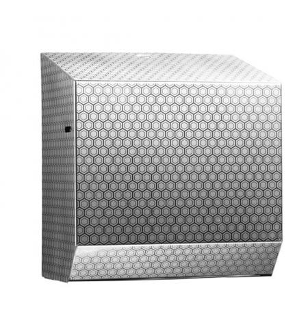 фото: Диспенсер для полотенец в рулонах Merida Inox Desigh Honeyсomb Line Maxi CDH301, металлик с рисунком