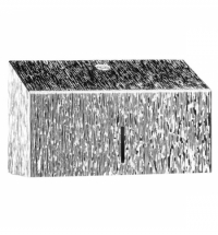 Диспенсер для полотенец листовых Merida Inox Desigh Icicle Line Mini ADI201, металлик с рисунком, V-