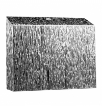 Диспенсер для туалетной бумаги в рулонах Merida Inox Desigh Icicle Line Duo BDI202, металлик с рисун
