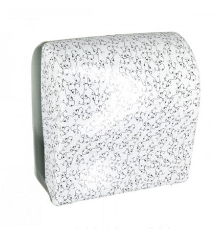 фото: Диспенсер для полотенец в рулонах Merida Unique Solid Cut Charming Line Spark Maxi CUH358, глянцевый