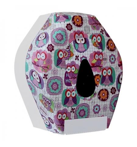 фото: Диспенсер для туалетной бумаги в рулонах Merida Unique Joy Line Spark BUH251, глянцевый с рисунком