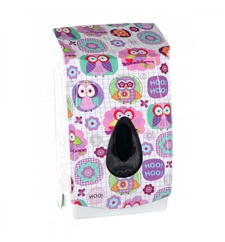 фото: Диспенсер для туалетной бумаги листовой Merida Unique Joy Line Spark BUH451, глянцевый с рисунком