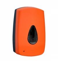 фото: Диспенсер для мыла в картриджах Merida Unique Orange Line Matt DUO501, сенсорный, матовый оранжевый,