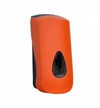 фото: Диспенсер для мыла в картриджах Merida Unique Orange Line Spark DUO251, глянцевый оранжевый, 700мл