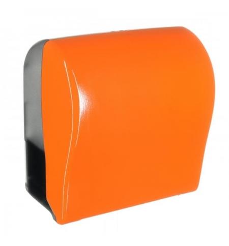 фото: Диспенсер для полотенец в рулонах Merida Unique Solid Cut Orange Line Spark Maxi CUO352, глянцевый о