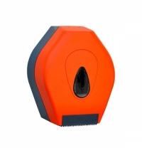 фото: Диспенсер для туалетной бумаги в рулонах Merida Unique Orange Line Matt BUO201, матовый оранжевый