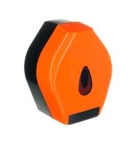 фото: Диспенсер для туалетной бумаги в рулонах Merida Unique Orange Line Spark BUO251, глянцевый оранжевый
