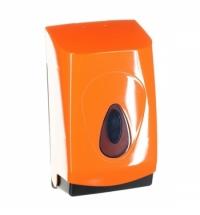 фото: Диспенсер для туалетной бумаги листовой Merida Unique Orange Line Spark BUO451, глянцевый оранжевый