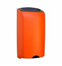 фото: Контейнер для мусора подвесной Merida Unique Orange Line Matt KUO101, открытая крышка, 40л, матовый