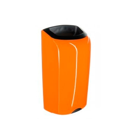 фото: Контейнер для мусора подвесной Merida Unique Orange Line Spark KUO151, открытая крышка, 40л, глянцев