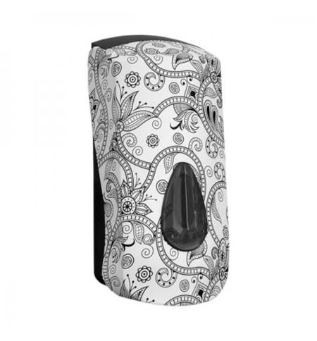 фото: Диспенсер для мыла в картриджах Merida Unique Orient Line Matt DUH205, матовый с рисунком, 700мл