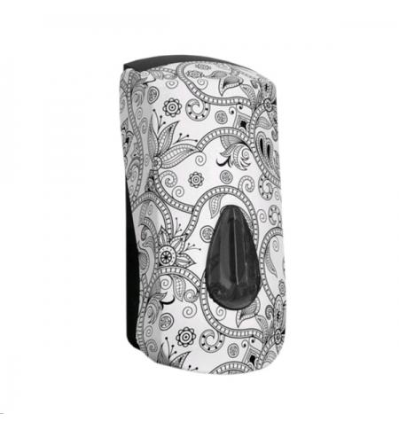фото: Диспенсер для мыла в картриджах Merida Unique Orient Line Spark DUH255, глянцевый с рисунком, 700мл