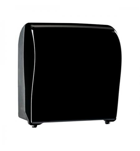 фото: Диспенсер для полотенец в рулонах Merida Unique Solid Cut Piano Black Line CUC352, глянцевый черный