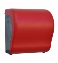 Диспенсер для полотенец в рулонах Merida Unique Lux Cut Red Line Matt Maxi CUR301, матовый красный