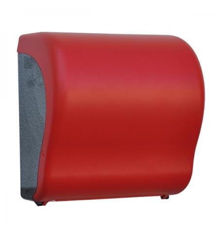 фото: Диспенсер для полотенец в рулонах Merida Unique Lux Cut Red Line Matt Maxi CUR301, матовый красный