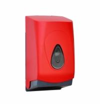 Диспенсер для туалетной бумаги листовой Merida Unique Red Line Matt BUR401, матовый красный
