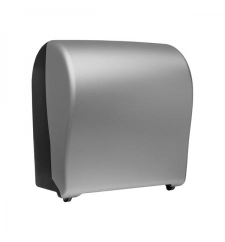 фото: Диспенсер для полотенец в рулонах Merida Unique Solid Cut Silver Line CUS302, матовый металлик