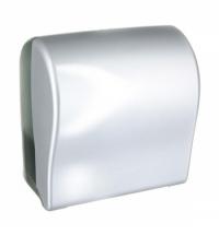 Диспенсер для полотенец в рулонах Merida Unique Solid Cut Silver Line CUS352, глянцевый металлик