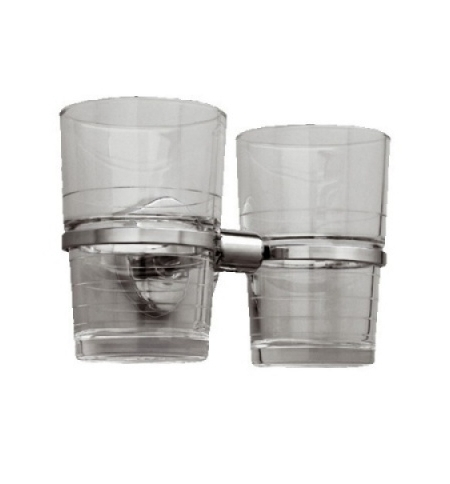 фото: Держатель стаканов Merida Hotel хромированный, на 2 стакана, MHA11