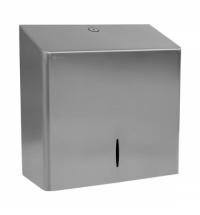 фото: Диспенсер для полотенец листовых Merida Stella R10 Advanced Maxi ASM103, матовый металлик, V-укладка