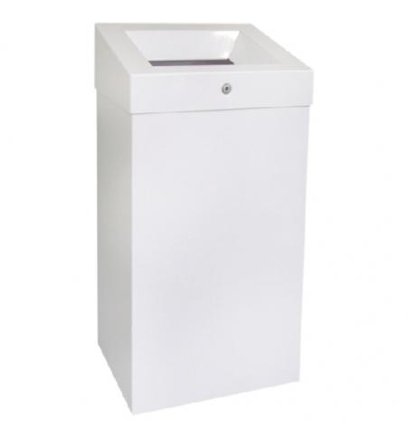 фото: Контейнер для мусора Merida Stella White KSB102, 47л, с конусным отверстием, белый