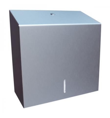 фото: Диспенсер для полотенец листовых Merida Stella Economy Maxi AEM101.L, матовый металлик