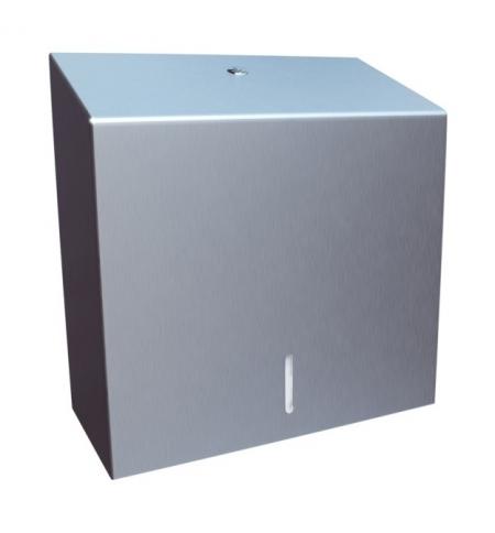 фото: Диспенсер для полотенец листовых Merida Stella Maxi ASM101, матовый металлик