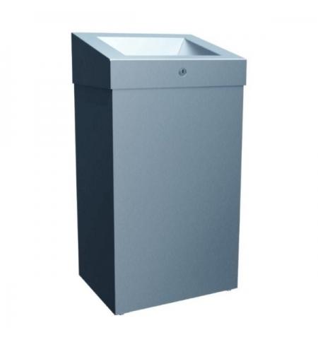 фото: Контейнер для мусора Merida Stella Plus 47л, матовый металлик, с конусным отверстием, KSM102