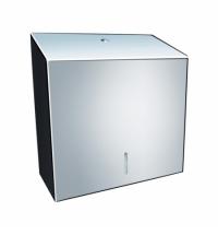 фото: Диспенсер для полотенец листовых Merida Stella Maxi ASP101, полированный металлик