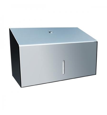 фото: Диспенсер для полотенец листовых Merida Stella Mini ASP201, полированный металлик