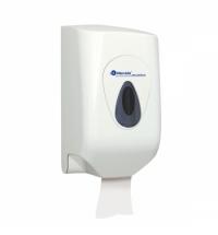 Диспенсер для полотенец в рулонах Merida Top Mini CTS201, белый/серый