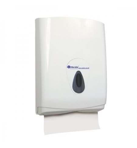 фото: Диспенсер для полотенец листовых Merida Top Maxi ATS101, белый/серый