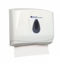 Диспенсер для полотенец листовых Merida Top Mini ATS201, белый/серый