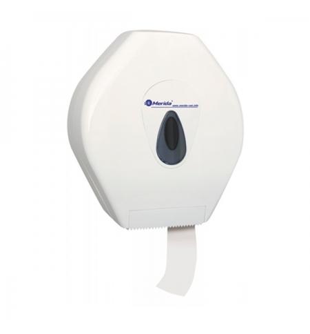 фото: Диспенсер для туалетной бумаги в рулонах Merida Top Mega BTS001, белый/серый