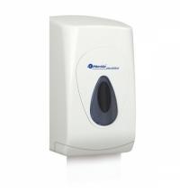 Диспенсер для туалетной бумаги листовой Merida Top BTS401, белый/серый