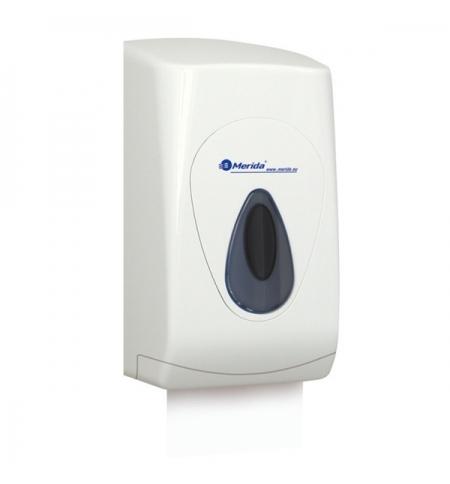 фото: Диспенсер для туалетной бумаги листовой Merida Top BTS401, белый/серый
