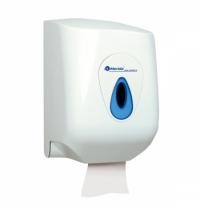 Диспенсер для полотенец в рулонах Merida Top Maxi CTN101, белый/синий