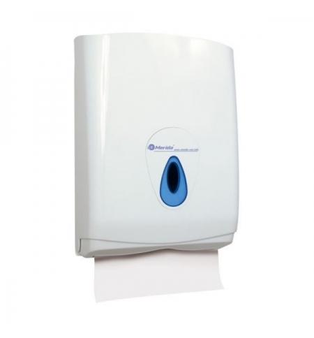 фото: Диспенсер для полотенец листовых Merida Top Maxi ATN101, белый/синий