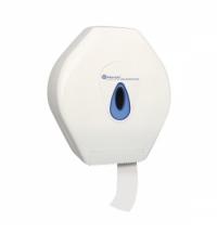 Диспенсер для туалетной бумаги в рулонах Merida Top Maxi BTN101, белый/синий